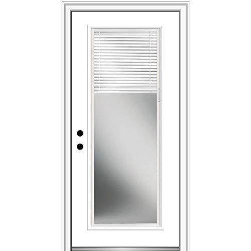 National Door Company, Exterior Single Door, Fiberglass Smooth, 32