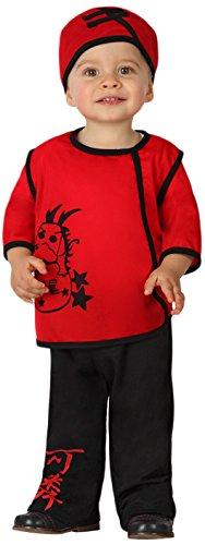 Atosa-23734 Guerrero Disfraz Chino, color rojo, 12 a 24 meses (23734)