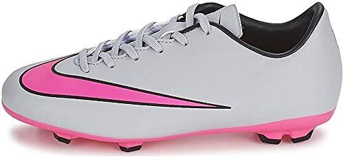 Nike Jr Mercurial Victory V Fg Jungen Fußballtrainings-Schuhe, - - Wolf Grey/Hyper Pink - Größe: 36.5 EU