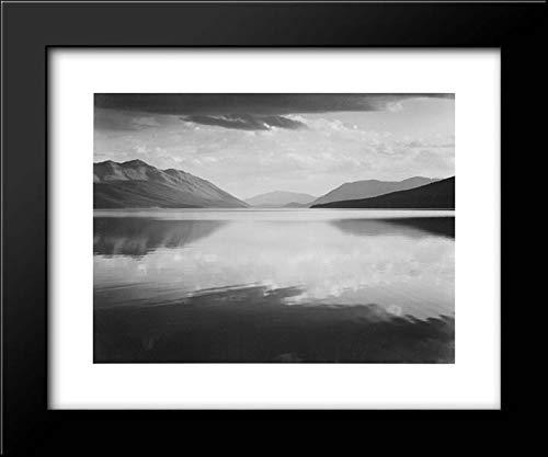 Evening, McDonald Lake, Glacier National Park 24x20 Framed Art Print by Ansel Adams