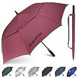 Gonex Paraguas de Golf Resistente al Viento para Hombres y Mujeres, Paraguas Abierto automático, de 62/68 Pulgadas con Doble ventilación, toldo Grande…