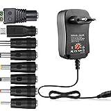 Sen-Sen 30W Netzteil Universal Adapter AC/DC 3V / 4.5V / 6V / 7.5V / 9V / 12V einstellbar schwarz EU -