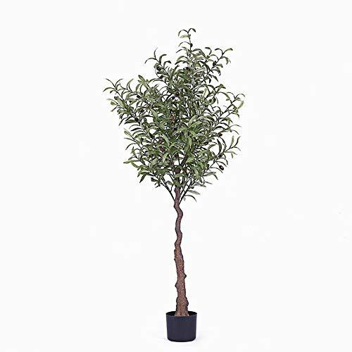 MyWheelieBin Simulación De La Decoración del Árbol Falso del Olivo Planta Verde Grande Árbol Falso Salón Piso Bonsai Planta En Maceta Interior 1,5 m de Olivo (Incluidas Las macetas)