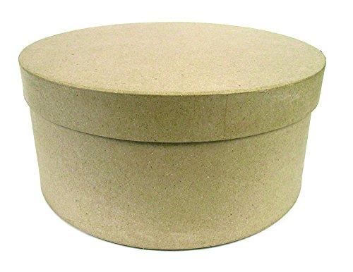 Décopatch BTS907C - Un lot de 3 boites en papier brun pulpé (31x31x16cm - 32x32x16 cm et 33x33x16 cm), Boites à chapeaux