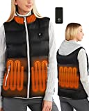 Foxelli Women's Heated Vest - Lightweight USB Rechargeable Heated Vest for Women with Battery Included
