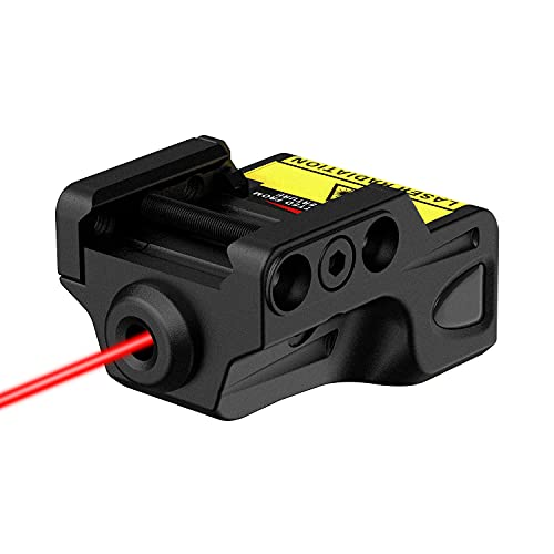 Gmconn Mini Tactical Green Laser Sights Ultra Low Profile Green Dot Laser Gun Sight for Pistols, Fit Picatinny Rail, USB Rechargeable, Lightweight (Red Laser)