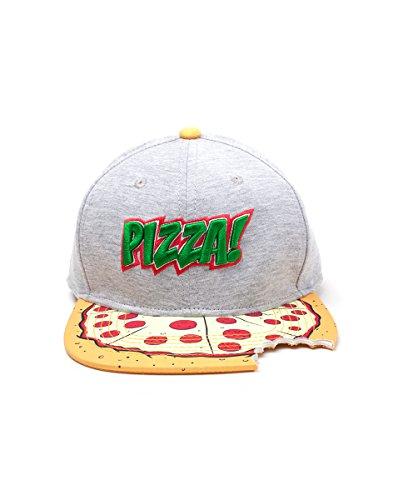 Meroncourt Unisex Teenage Mutant Ninja Turtles (TMNT) Pizza Bite Snapback Baseball Cap, One Size, Multi-Colour (Sb080602Tmt) Baseballkappe, Multicoloured (Grey)