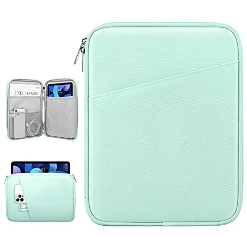 Dadanism 9-11 Zoll Tablet Sleeve Tasche Kompatibel mit iPad 10,2 2021-2019,iPad Pro 11 2018-2021, iPad Air 4 10,9 2020, Galaxy Tab A7 10,4/Tab S6 Lite 10,4, Wasserdicht Tablette Schutzhülle, Mint Grün