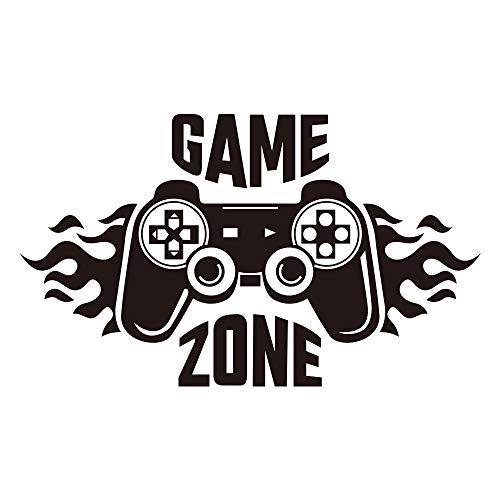 Calcomanías de pared de Game Zone, pegatinas de pared de control de jugador, decoración de vinilo extraíble para habitación de niños, hogar, sala de juegos (40 x 22 cm)