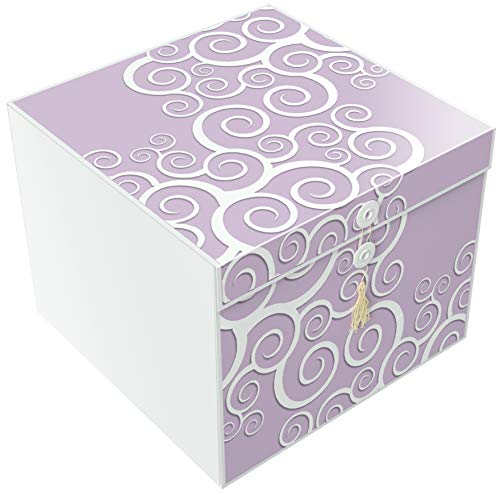 Gift Box 10x10x10 Cassandra Pop up in Seconds comes with Decorative Ribbon mounted on the lid A Gift Tag and Tissue Paper  No Glue or Tape Required