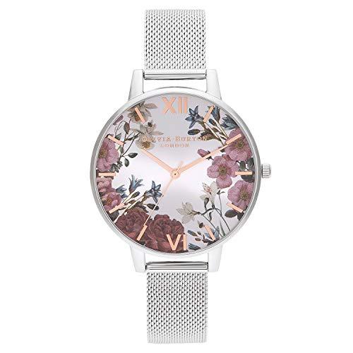 Olivia Burton Reloj Analógico para Mujer de Cuarzo con Correa en Acero Inoxidable OB16EG133