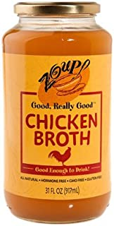 Chicken Broth by Zoup! - All Natural, Gluten Free, Non GMO, Fat Free Chicken Broth (1-Pack)