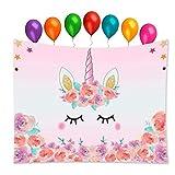 Tumao Arazzi Unicorno Murale E 7 Pezzi Rainbow Color Compleanno Palloncino per Camera da L...