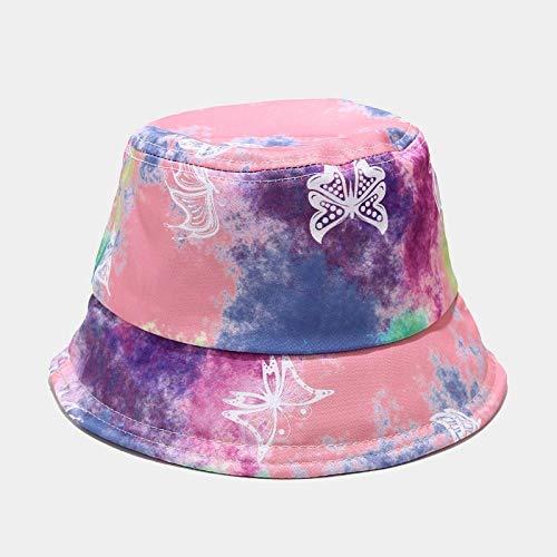 YDXC Sombrero De Cubo Colorido Printi Patrón De Llama Cubo Sombreros Hombres Mujeres Verano Moda Hip Hop Pescador Sombrero Niños Niñas Al Aire Libre Aplicar A Correr Viajes Etc-Butterfly_Pattern