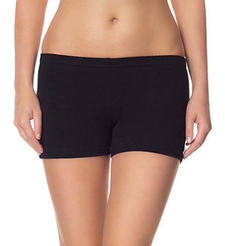 Ladeheid Damen Shorts Radlerhose Unterhose Hotpants Kurze Hose Boxershorts LAMA05, Schwarz13, XXL-3XL (Herstellergröße: 44-46)
