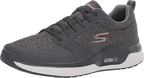 Skechers Men's GO Run STEADY-54888 Sneaker, Charcoal, 11 Extra Wide US
