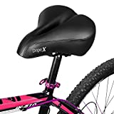 Dripex Most Comfortable Gel Bike Saddle Seat, Outdoor Women and Men Cycling Seat, Foam Padded Breathable with One Mounting Wrench