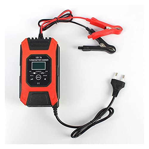 HANLILI kasu Cargador de batería de 12 V 7A 7A, Plomo Gel STD AGM Cargador de batería de la Motocicleta del automóvil, Mantenedor de Carga de pulsos y Desulfador (Socket Standard : AU-Plug)