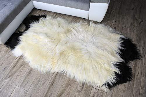Xl Island mouton peau LAINEE synthetique gris 100 x 60-70cm present sheepskin DECO