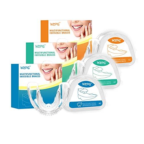 WZPG Zahnorthodontische Klammern Appliance, Zahnspangen, Silikonausrichtung Trainer Zähne Halter, Bruxismus Guard Zähne Halter (3 stücke)