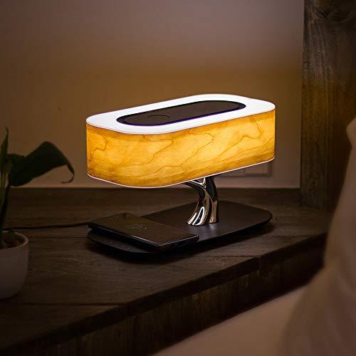 Lámpara Escritorio Lámpara árbol luz de regalo lámpara de mesa multifunción bluetooth audio lámpara lámpara inteligente hogar inalámbrico carga atmósfera lámpara ( Color : Light+wireless+speaker )