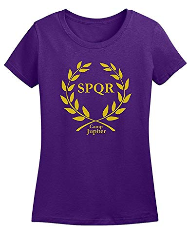 Camiseta de Moda para Mujer Camiseta Camp Jupiter SPQR de Manga Corta...