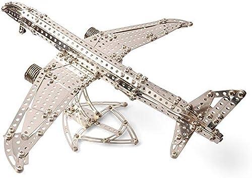 Tagke 8 Jahre alte Junge Metall Flugzeug Modell Kinder montiert Spielzeug Puzzle Junge kreative Geschenk Metall buchseinsatz Spielzeug sterben Geburtstag Geschenk kindertag Geschenk