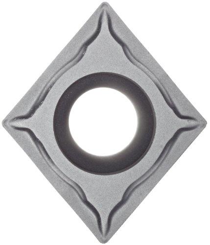 "Sandvik Coromant T-Max U Carbide Turning Insert, CCGT, 80 Degree Diamond, UM Chipbreaker, H10A Grade, Uncoated, CCGT 431-UM, 1/2"" iC, 0.0157"" Corner Radius (Pack of 10)"