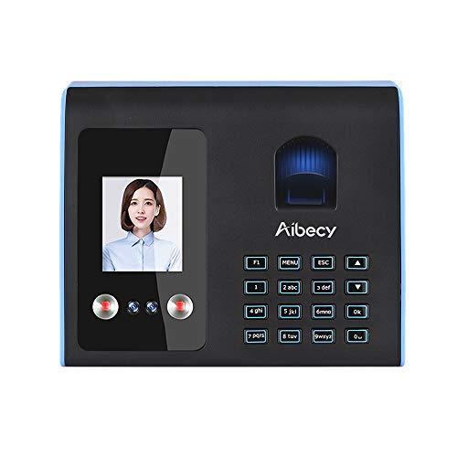 Aibecy Fingerabdruck Stempeluhr Zeiterfassung Intelligent Attendance Machine Face Mix Biometrische Zeitschaltuhr für Mitarbeiter mit Voice Broadcast Funktion Mehrsprachig