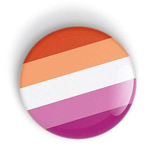 Lesbian Pride Flag pin badge button or fridge magnet LGBT LGBTQ LGBTQI LGBTQIA