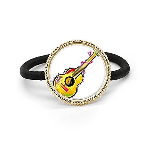 Instrumento Guitarra Mexicon Elemento Ilustración Plata Metal Pelo Corbata Y Caucho Banda Tocado