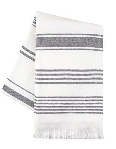 Sticky Toffee Toalla de algodón Hammam SPA, baño, Yoga y Toalla de Playa | 89 x 165 cms | Un Lado Terry | Gris