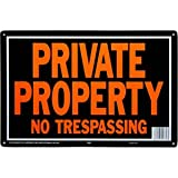 Hy-ko 848 Aluminum Private Property No Trespassing 10' X 14' Sign Pack of 12