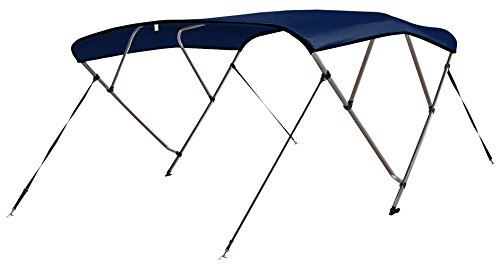Leader Accessories Navy Blue 4 Bow 8'L x 54' H x 79'-84' W Bimini Top Cover 4 Straps for Front and Rear Includes Mounting Hardwares with 1 Inch Aluminum Frame