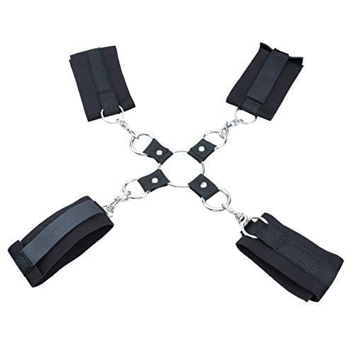 Heallily Rückhalte-Sex-Kit Handgelenk-Fußfesseln Rückhaltekragen Handschellen Rückhalte-Bondage-Kit für Paare