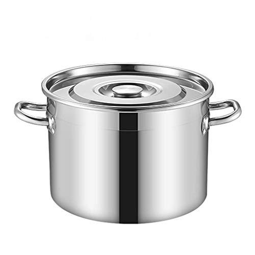 80 litros Olla de Acero Inoxidable 304, Olla de Sopa Grande Espesada doméstica Comercial de Catering con Tapa, Utilizada para Todo Tipo de Estufas (13-80L) (Tamaño: 80L)