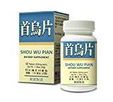 Shou Wu Pian Herbal Supplement Helps for Nourish The Brain, Replenishing Essence to Calm The Mind, Promote Sleep 500mg 60 Tablets Made in USA