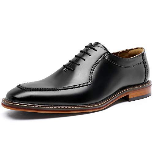 [フォクスセンス] ビジネスシューズ 高級紳士靴 本革 メンズ 革靴 ロングノーズ サドルシューズ 軽量・撥水 ブラック 27.5cm P6907-01