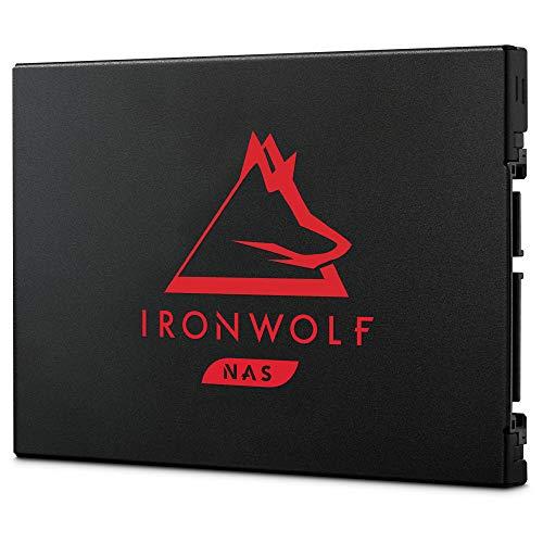 Seagate IronWolf 125 SSD 500 GB, interne NAS SSD, SATA mit 6 GB/s, 2.5 Zoll bis zu 560 MB/s, schwarz, FFP, inkl. 3 Jahre Rescue Service, Modellnr.: ZA500NM1A002