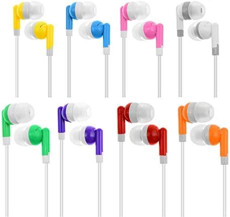 Wholesale Kids Bulk Earbuds Headphones Earphones 30 Pack Assorted Colors for Schools Libraries product image