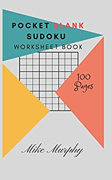 Pocket Blank Sudoku Worksheet Book  100 Pages 5*8 Two Blank Sudoku Grids Per Page  Volume 1