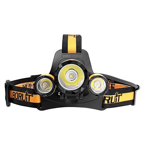 Linterna frontal LED Super Bright Head Linterna 5000 lúmenes 4 modos de iluminación con silbato de supervivencia SOS Adecuado para pesca,caza,correr,senderismo,acampar
