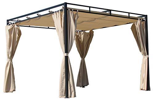 QUICK STAR Ersatzdach für Flachdach Pergola Firenze 3x3m Pergoladach Bezug Sand