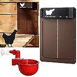 Puerta de gallinero automática pequeña con Sensor de luz - Puerta de gallinero a...