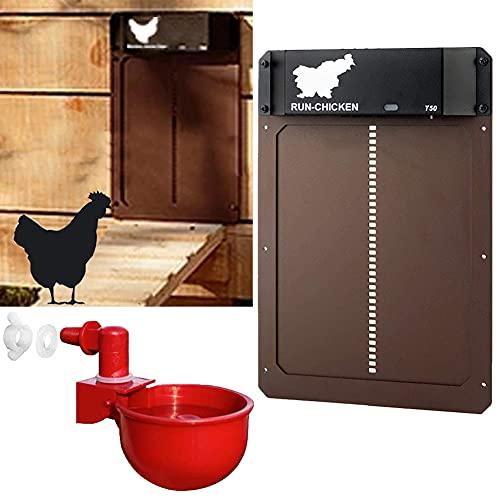 Puerta de gallinero automática pequeña con Sensor de luz - Puerta de gallinero a Prueba de...