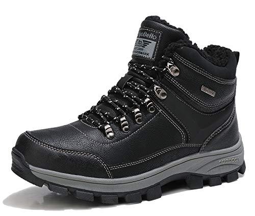 ARRIGO BELLO Hombre Botas Botines Zapatos Invierno Botas de Nieve Cálido Fur Forro Aire Libre Boots Urbano Senderismo Esquiar Caminando 41-46(Negro, Numeric_45)