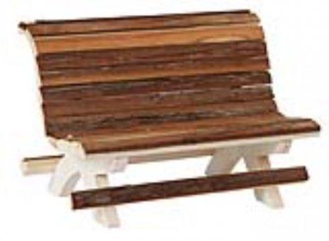 Kerbl 82861 houten bank voor Hamster Nature, 18 x 11 x 12 cm
