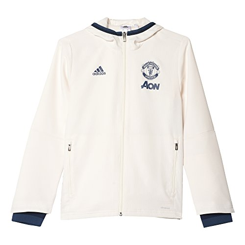 adidas MUFC Pre JKT Y Sweatshirt Manchester United FC Kinder, Jungen, AP0990, Mehrfarbig (Blatiz/Maruni/Azumin), 128