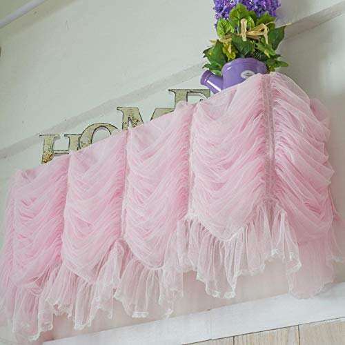 Qingsb zoete kant garen prinses taart lagen opknoping airconditioner cover gordijn LCD covers thuis textiel bruiloft decoratie, paars, 80x20x30cm