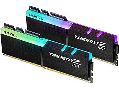 G.SKILL 32GB (2 x 16GB) TridentZ RGB Series DDR4 PC4-28800 3600 MHz 288-Pin Desktop Memory Model F4-3600C16D-32GTZRC